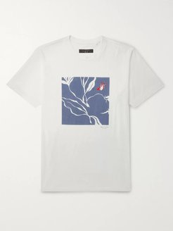Embroidered Printed Cotton-Jersey T-Shirt - Men - White