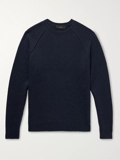 Intarsia Cashmere Sweater - Men - Blue