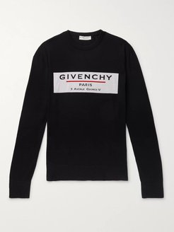 Logo-Intarsia Wool Sweater - Men - Black