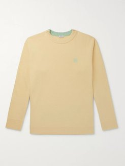 Logo-Embroidered Wool Sweater - Men - Yellow