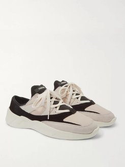Mesh, Suede and Leather Backless Sneakers - Men - Neutrals