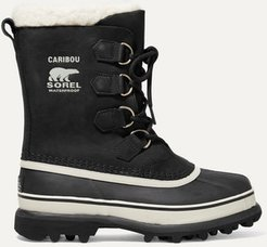 Caribou Waterproof Nubuck And Rubber Boots - Black