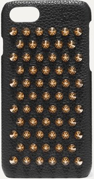 Loubiphone Embellished Textured-leather Iphone 7 And 8 Case - Black