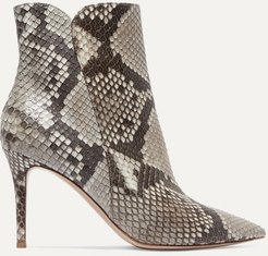 Levy 85 Python Ankle Boots - Snake print