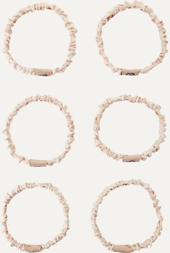 The Coco Set Of Six Hair Ties - Taupe