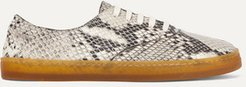 Marcello Snake-effect Leather Sneakers - Snake print