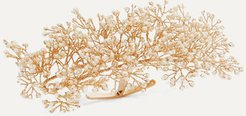 Baby's Breath Gold-plated Pearl Ring Cuff