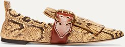 Snake-effect Leather Loafers - Snake print