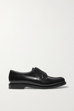 Shannon Glossed-leather Brogues - Black