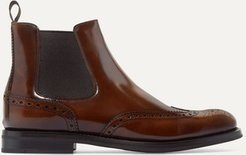 Ketsby Glossed-leather Chelsea Boots - Brown