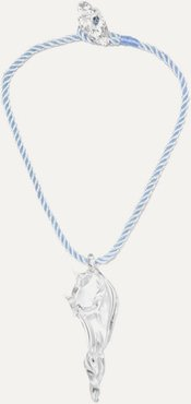 Conch Glass And Cord Necklace - Clear
