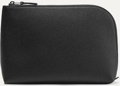 Textured-leather Pouch - Black