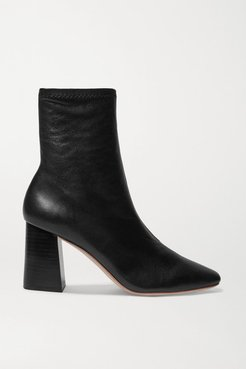 Elise Leather Ankle Boots - Black