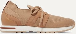 Flexy Lady Cashmere, Suede And Leather Sneakers - Camel