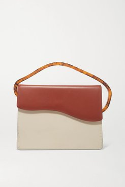 Aiges Two-tone Leather And Resin Tote - Off-white