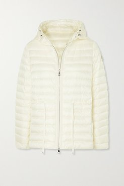 Raie Hooded Quilted Shell Down Jacket - Ivory