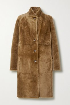 Brittany Reversible Shearling Coat - Sand