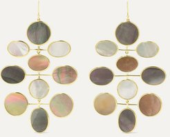Polished Rock Candy 18-karat Gold Shell And Mother-of-pearl Earrings