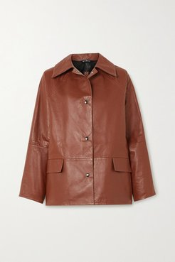 Reversible Leather Jacket - Brown