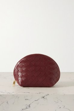 Intrecciato Leather Cosmetics Case - Claret