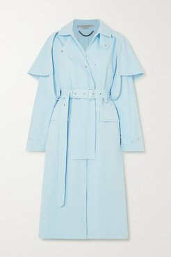 Cotton-blend Twill Trench Coat - Blue