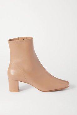 Sofia Leather Ankle Boots - Neutral