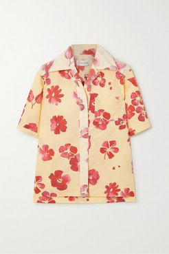 Havana Floral-print Cotton-poplin Shirt - Yellow