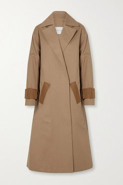 Two-tone Cotton-drill Trench Coat - Beige