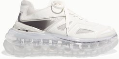 53045 - Bump Air Faux Leather, Mesh And Neoprene Sneakers - White