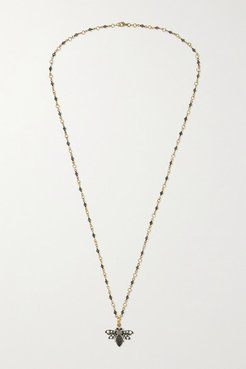 18-karat Gold And Sterling Silver Multi-stone Necklace