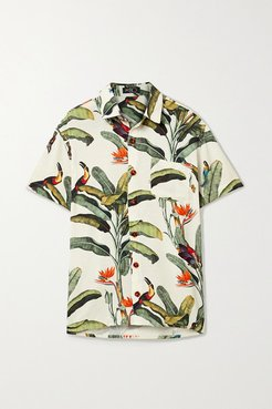 Printed Voile Shirt - Off-white
