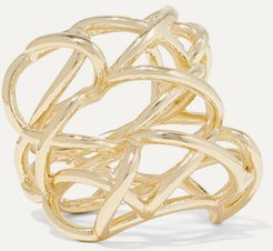 Lace Up Gold-plated Ring