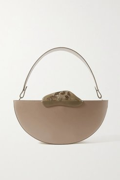 Ottava Leather And Resin Tote - Taupe