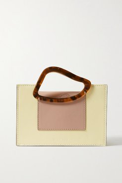 Arp Mini Two-tone Leather And Resin Tote - Cream
