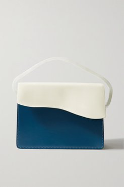 Aiges Two-tone Leather And Resin Tote - Petrol