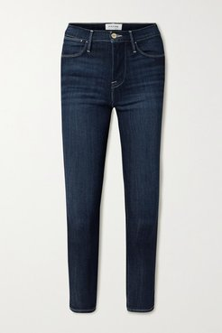 Le High Cropped Skinny Jeans - Blue