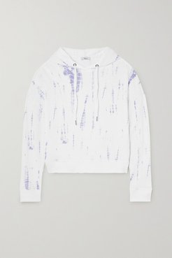 Murray Tie-dyed Cotton And Modal-blend Terry Hoodie - Blue