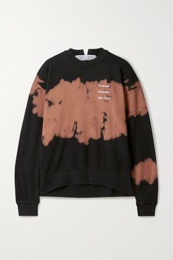 Tie-dyed Printed Cotton-jersey Sweatshirt - Brown