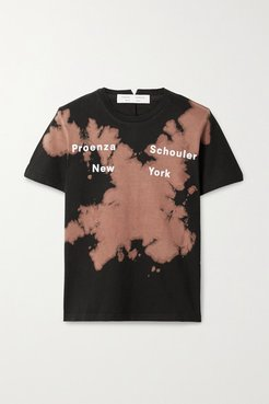 Tie-dyed Cotton-jersey T-shirt - Black