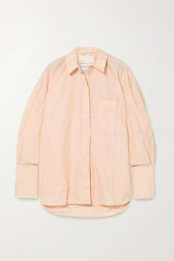Net Sustain Oversized Crinkled-organic Cotton Shirt - Blush