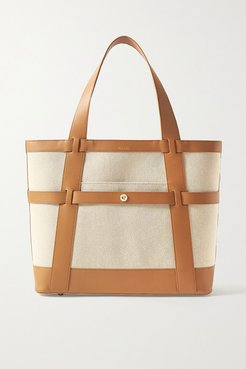Atlantic Leather-trimmed Cotton-canvas Tote - Tan