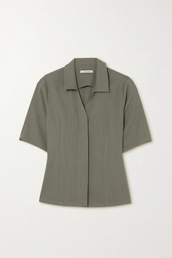 Crepe Shirt - Gray