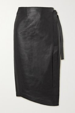 Envelope1976 - Net Sustain Sarajevo Leather Wrap Skirt - Black