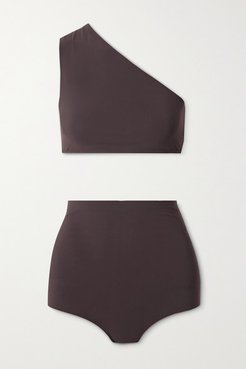 One-shoulder Bikini - Chocolate