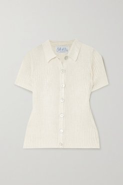 Ribbed-knit Shirt - Beige