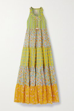 Hippy Tiered Printed Cotton-voile Maxi Dress - Yellow
