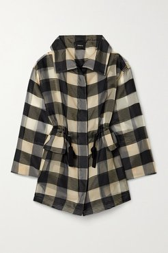 Checked Mulberry Silk-organza Jacquard Jacket - Black