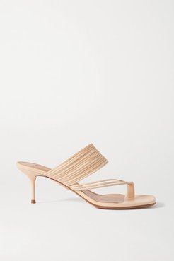 Sunny 60 Leather Sandals - Beige