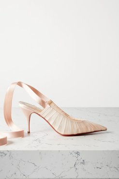 Goya Ruban 80 Chiffon And Satin Pumps - Blush