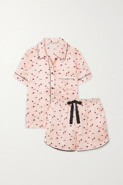Tami Bea Printed Satin Pajama Set - Blush